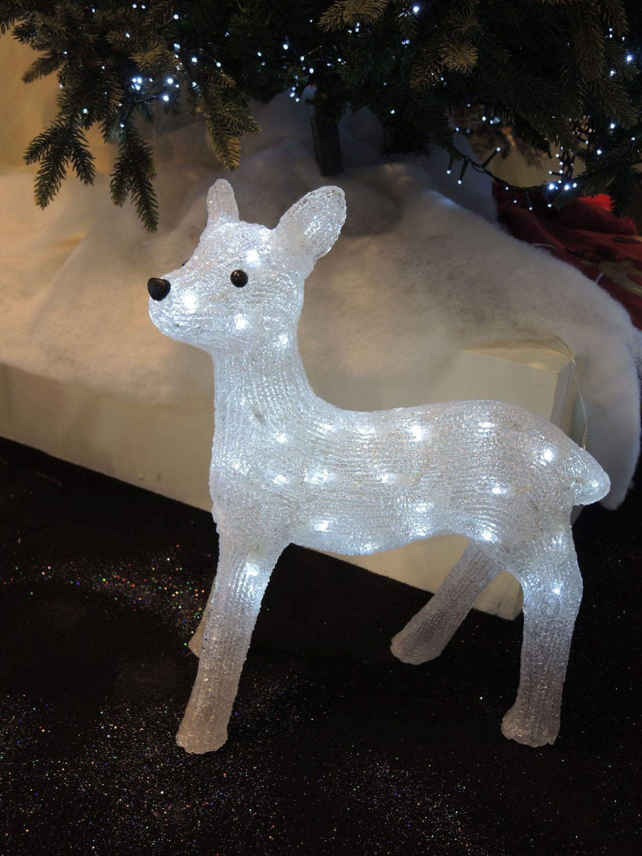 Figura luminosa natalizia per esterno acrilico - Renna natalizia luminosa per giardino ...