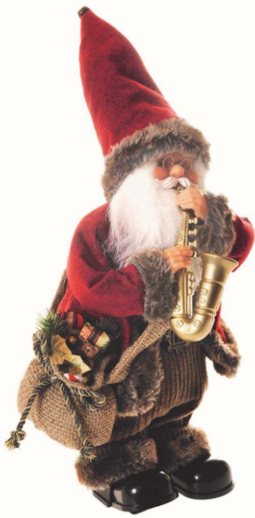 Babbo Natale Musicale.Babbo Natale Con Saxofono Strumento Musicale